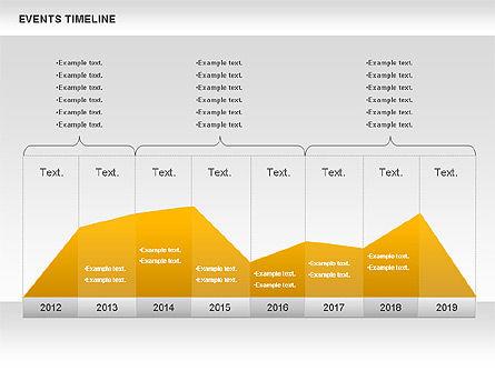 Events Timeline Diagram, Slide 3, 00825, Timelines & Calendars — PoweredTemplate.com