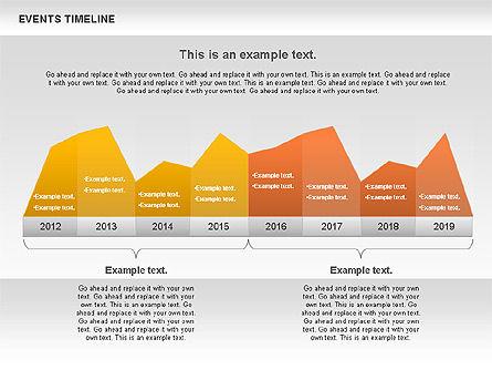 Events Timeline Diagram, Slide 4, 00825, Timelines & Calendars — PoweredTemplate.com
