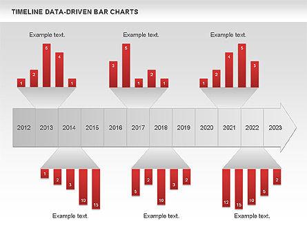 Timeline Data-Driven Bar Charts, Slide 2, 00826, Timelines & Calendars — PoweredTemplate.com