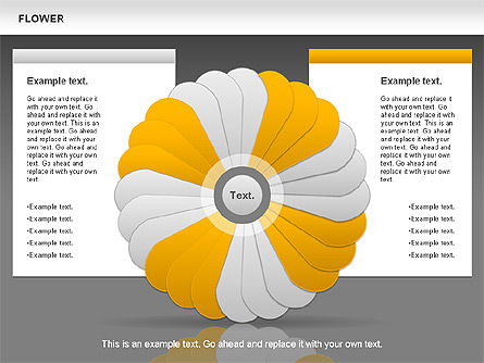 Flower Petals Chart, Slide 12, 00827, Timelines & Calendars — PoweredTemplate.com