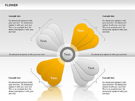 Flower Petals Chart, Slide 2, 00827, Timelines & Calendars — PoweredTemplate.com