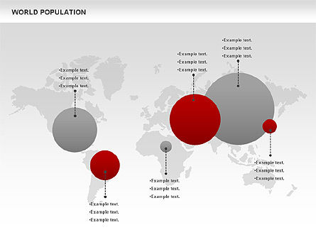 World Population Diagram, 00829, Business Models — PoweredTemplate.com