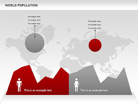World Population Diagram, Slide 3, 00829, Business Models — PoweredTemplate.com