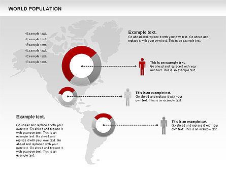 World Population Diagram, Slide 4, 00829, Business Models — PoweredTemplate.com