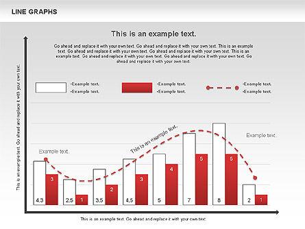Line Graphs, Slide 11, 00830, Graph Charts — PoweredTemplate.com