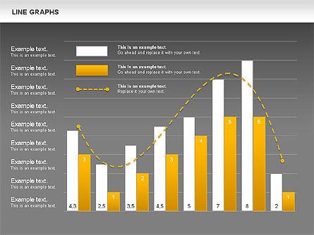 Line Graphs, Slide 13, 00830, Graph Charts — PoweredTemplate.com