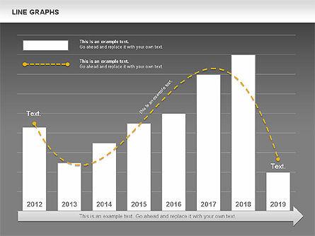Line Graphs, Slide 14, 00830, Graph Charts — PoweredTemplate.com