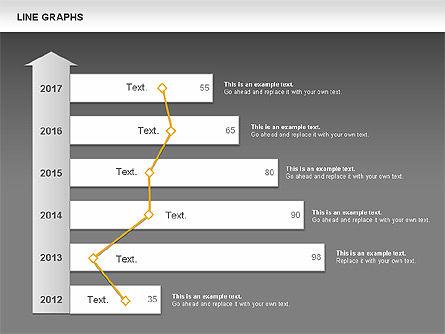 Line Graphs, Slide 16, 00830, Graph Charts — PoweredTemplate.com