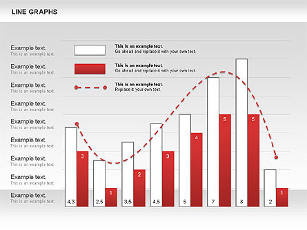 Line Graphs, Slide 2, 00830, Graph Charts — PoweredTemplate.com