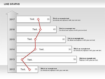 Line Graphs, Slide 5, 00830, Graph Charts — PoweredTemplate.com
