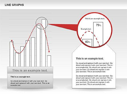 Line Graphs, Slide 9, 00830, Graph Charts — PoweredTemplate.com