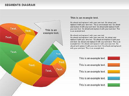 Segments Diagram, Slide 3, 00831, Business Models — PoweredTemplate.com