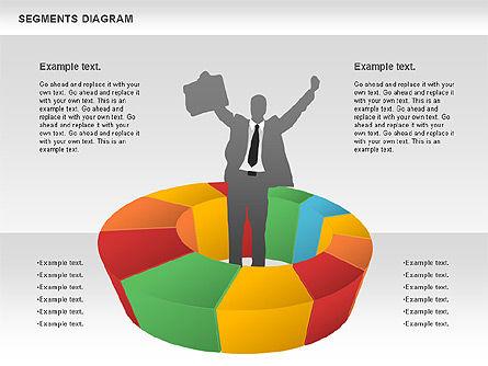 Segments Diagram, Slide 4, 00831, Business Models — PoweredTemplate.com