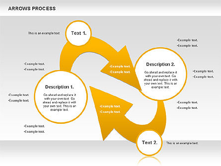 Arrows Process, Slide 3, 00832, Process Diagrams — PoweredTemplate.com