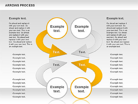 Arrows Process, Slide 4, 00832, Process Diagrams — PoweredTemplate.com