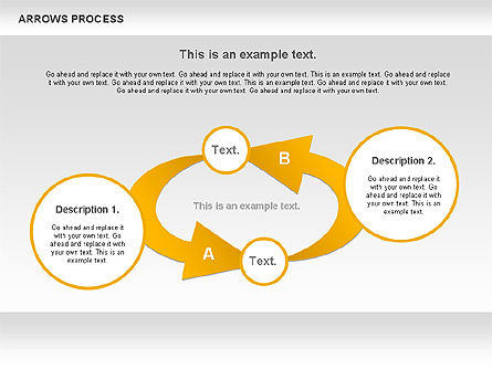 Arrows Process, Slide 8, 00832, Process Diagrams — PoweredTemplate.com
