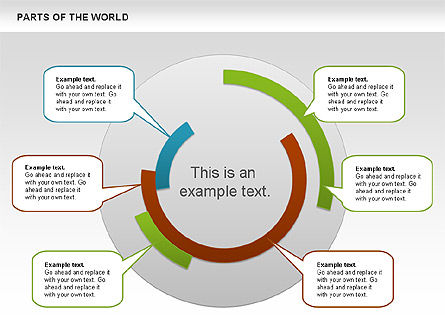 Parts of the World, Slide 2, 00833, Presentation Templates — PoweredTemplate.com