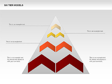 Six Tier Model Chevron Diagram, 00834, Business Models — PoweredTemplate.com