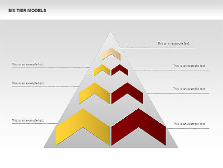 Six Tier Model Chevron Diagram, Slide 2, 00834, Business Models — PoweredTemplate.com