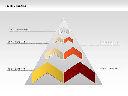 Six Tier Model Chevron Diagram, Slide 3, 00834, Business Models — PoweredTemplate.com