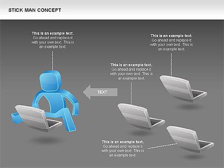 Stickman Shapes, Slide 11, 00835, Shapes — PoweredTemplate.com