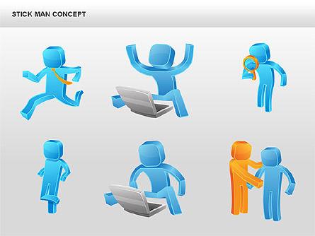 Stickman Shapes, Slide 12, 00835, Shapes — PoweredTemplate.com