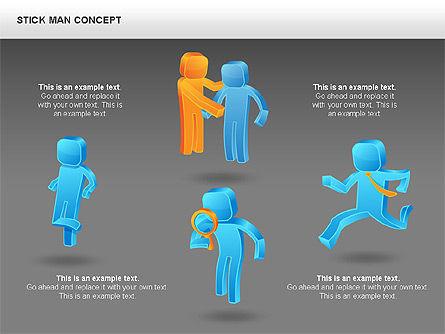 Stickman Shapes, Slide 13, 00835, Shapes — PoweredTemplate.com
