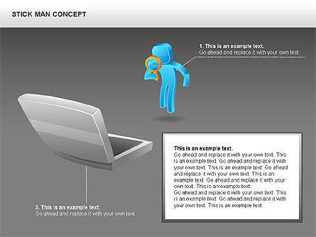 Stickman Shapes, Slide 14, 00835, Shapes — PoweredTemplate.com