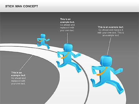 Stickman Shapes, Slide 15, 00835, Shapes — PoweredTemplate.com