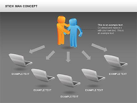 Stickman Shapes, Slide 16, 00835, Shapes — PoweredTemplate.com