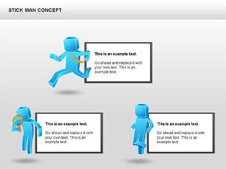 Stickman Shapes, Slide 4, 00835, Shapes — PoweredTemplate.com