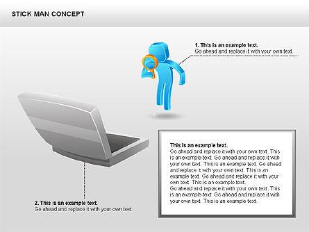 Stickman Shapes, Slide 5, 00835, Shapes — PoweredTemplate.com