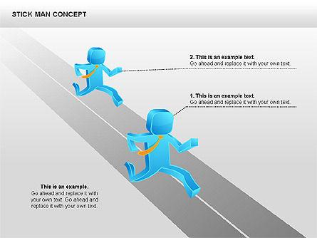 Stickman Shapes, Slide 8, 00835, Shapes — PoweredTemplate.com