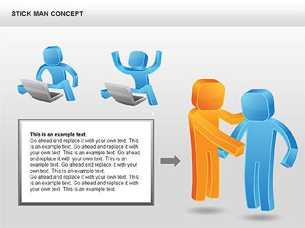 Stickman Shapes, Slide 9, 00835, Shapes — PoweredTemplate.com