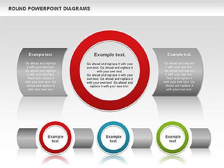 Round Diagrams, Slide 4, 00836, Business Models — PoweredTemplate.com