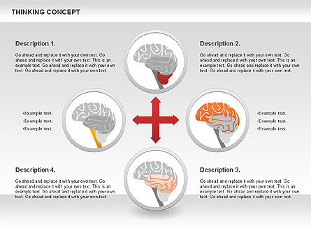 Thinking Concept Diagram, Slide 3, 00837, Business Models — PoweredTemplate.com