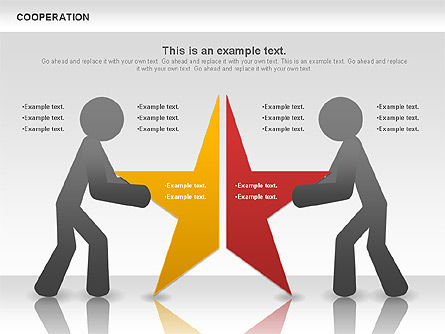 Cooperation Diagram, Slide 2, 00838, Business Models — PoweredTemplate.com
