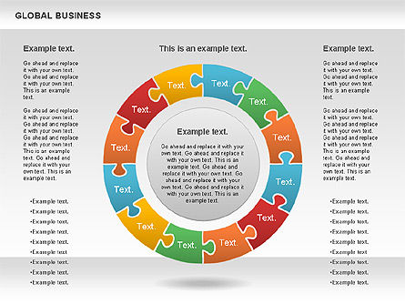 Global Business Diagram, Slide 10, 00840, Puzzle Diagrams — PoweredTemplate.com