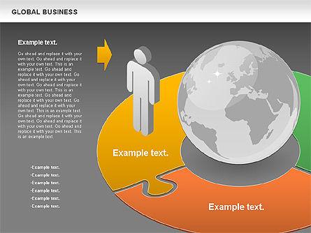 Global Business Diagram, Slide 12, 00840, Puzzle Diagrams — PoweredTemplate.com