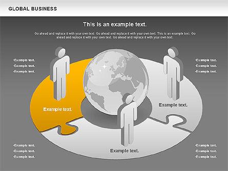 Global Business Diagram, Slide 13, 00840, Puzzle Diagrams — PoweredTemplate.com