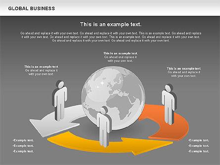 Global Business Diagram, Slide 14, 00840, Puzzle Diagrams — PoweredTemplate.com