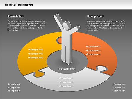 Global Business Diagram, Slide 15, 00840, Puzzle Diagrams — PoweredTemplate.com