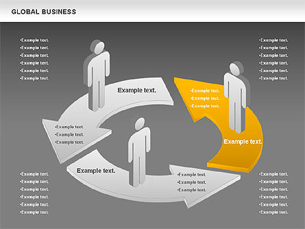 Global Business Diagram, Slide 16, 00840, Puzzle Diagrams — PoweredTemplate.com