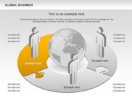 Global Business Diagram, Slide 2, 00840, Puzzle Diagrams — PoweredTemplate.com