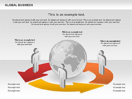 Global Business Diagram, Slide 3, 00840, Puzzle Diagrams — PoweredTemplate.com
