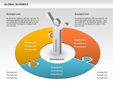 Global Business Diagram, Slide 4, 00840, Puzzle Diagrams — PoweredTemplate.com