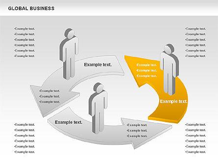 Global Business Diagram, Slide 5, 00840, Puzzle Diagrams — PoweredTemplate.com