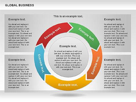 Global Business Diagram, Slide 8, 00840, Puzzle Diagrams — PoweredTemplate.com