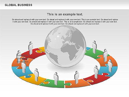 Global Business Diagram, Slide 9, 00840, Puzzle Diagrams — PoweredTemplate.com
