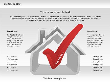 Check Mark Shapes, Slide 11, 00841, Shapes — PoweredTemplate.com